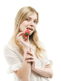 Girl with pepper Royalty Free Stock Image