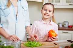 Girl with pepper Stock Photo