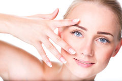 Girl with perfect skin Royalty Free Stock Image