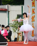 girl  performing ballet Royalty Free Stock Images