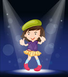 A girl performing on stage Royalty Free Stock Images