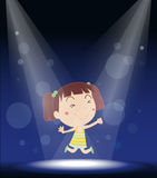 A girl performing on stage Stock Photo
