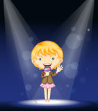A girl performing on stage Royalty Free Stock Photography