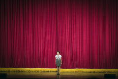 Girl performing at a theater in North Korea Stock Image