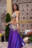 Girl performs Oriental Dance Stock Photo