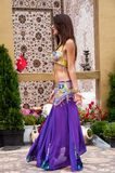 Girl performs Oriental Dance Royalty Free Stock Images