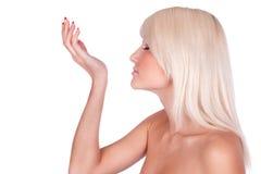 Girl perfume Stock Photography