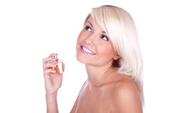 Girl perfume Royalty Free Stock Image