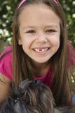 Girl With Pet Dog Stock Image