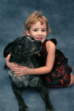 Girl and Pet Dog Royalty Free Stock Images