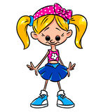 Girl petite cartoon Stock Photo