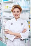 The girl-pharmacist Royalty Free Stock Images