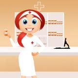 Girl in the Pharmacy Stock Photos