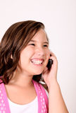 Girl and phone Royalty Free Stock Photography