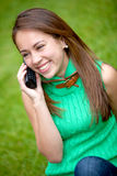 Girl on the phone Royalty Free Stock Photography