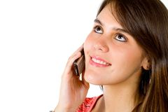 Girl on the phone Royalty Free Stock Image