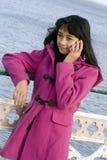 Girl on phone Stock Photo