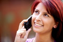 Girl on the phone Stock Photos