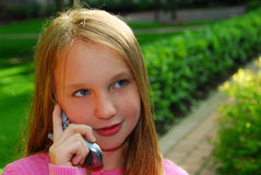 Girl phone Royalty Free Stock Image