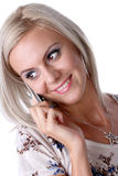 Girl at phone Stock Photo