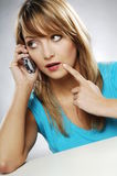 Girl with phone Royalty Free Stock Image
