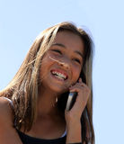 Girl on the phone Stock Images
