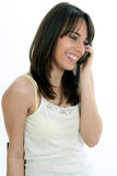 Girl at phone Stock Image