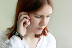 Girl on the phone Royalty Free Stock Images