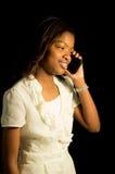 Girl on the phone Stock Photos