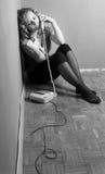 Girl and phone call Stock Image
