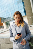 Girl phone call Royalty Free Stock Image