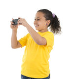 Girl With Phone Camera Royalty Free Stock Photography