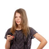 Girl on phone Royalty Free Stock Photography