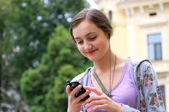 Girl with phone Royalty Free Stock Images