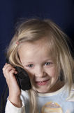 Girl on a Phone Royalty Free Stock Photos