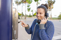 Girl phoning. Stock Images