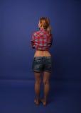 Girl in photo studio Stock Image
