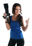 The girl the photographer Royalty Free Stock Images