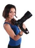 The girl the photographer Stock Photo