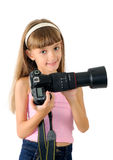 The girl - photographer Stock Photo