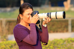 Girl photographer Royalty Free Stock Photo