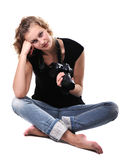 Girl photographer Royalty Free Stock Photography