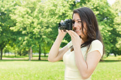 Girl photographer Royalty Free Stock Image