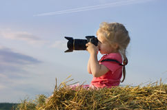 Girl photographer Stock Photos