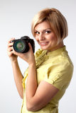 Girl-photographer Stock Images