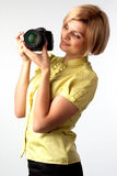 Girl-photographer Stock Photography