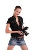 Girl photographer Royalty Free Stock Photos