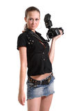 Girl photographer Royalty Free Stock Images