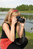 The girl the photographer Royalty Free Stock Photography