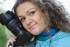 Girl-photographer Stock Image